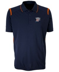 Antigua Oklahoma City Thunder Merit Polo Shirt Blue