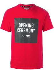 Opening Ceremony Logo Print T Shirt Red