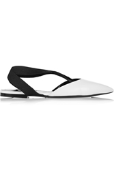 Balenciaga Leather And Elastic Point Toe Flats