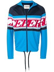 Iceberg Logo Stripe Track Top Blue