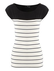 Jane Norman Zip Stripe Top Multi Coloured