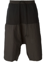 Lost And Found Panelled Drawstring Shorts Black