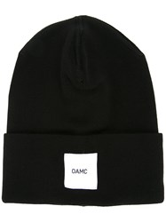 Oamc Brand Patch Knitted Beanie Black