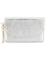 Diane Von Furstenberg Dvf Metallic Clutch Bag