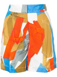 Ports 1961 Abstract Print Shorts Multicolour