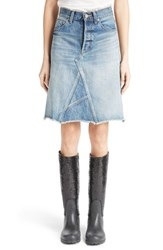 Women's Saint Laurent Vintage Wash Denim Skirt