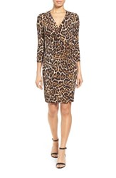 Women's Anne Klein Animal Print Faux Wrap Dress