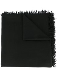 Attachment Wool Scarf Black