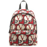 Valentino X Undercover Skull Print Backpack Red