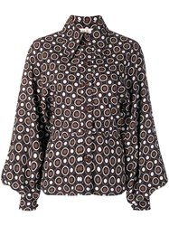Mulberry Dotted Print Shirt Blue