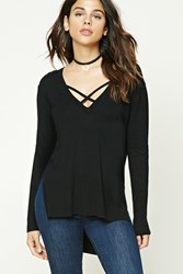 Forever 21 High Low V Neck Sweater