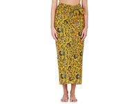 Etoile Isabel Marant Women's Floral Cotton Wrap Cover Up Yellow