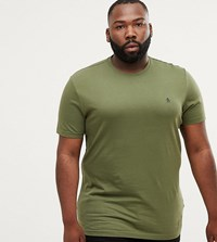 Original Penguin Big And Tall Crewneck T Shirt Small Logo In Green Bronze Green