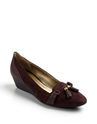 Circa Joan And David Yzabeth Leather Loafer Wedges Brown