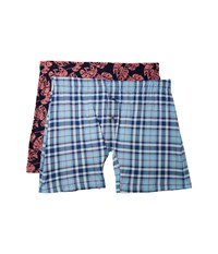 Tommy Bahama Printed Knit Boxer Brief Set Island Plaid Tropical Leaves Underwear Multi