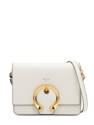 Jimmy Choo Madeline Grained Leather Bag White