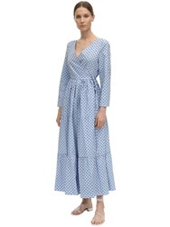 Baum Und Pferdgarten Point D'esprit Poplin Wrap Dress Light Blue