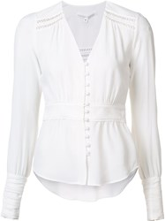 Veronica Beard 'Romani Boho' Blouse White