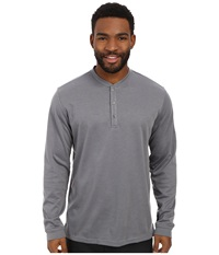 Adidas Travel Dri Release Wool Henley Vista Grey Men's Long Sleeve Pullover Gray