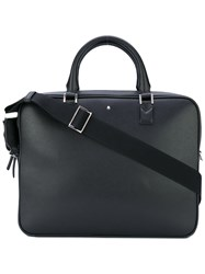 Montblanc Sartorial Slim Briefcase Men Calf Leather Polyester One Size Black