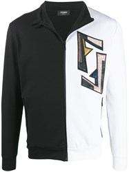 Fendi Logo Track Jacket Black