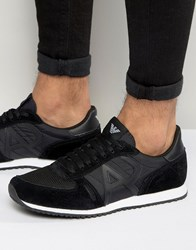 Armani Jeans Logo Runner Trainers Black