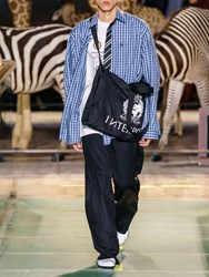 Vetements Check Cotton Shirt W Striped Tie Blue