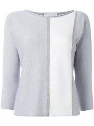 Fabiana Filippi Bicolour Slim Fit Jumper Grey
