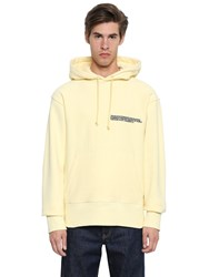 Calvin Klein 205W39nyc Hooded Cotton Sweatshirt W Embroidery Light Yellow