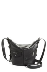 Marc Jacobs The Mini Sling Convertible Leather Hobo Black