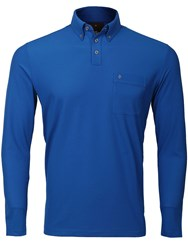 Oscar Jacobson Jasper Long Sleeved Polo Blue