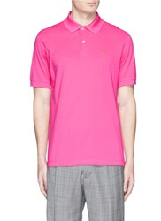 Paul Smith Peace Sign Embroidered Polo Shirt Pink