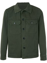 Massimo Piombo Mp Military Shirt Jacket Men Cotton 48 Green