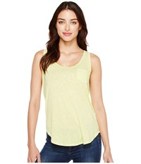 Lamade Boyfriend Tank W Pocket Sunny Lime Women's Sleeveless Green