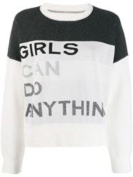 Zadig And Voltaire Nell Intarsia Slogan Sweater Black