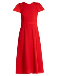 Goat Dionne Wool Crepe Dress Red