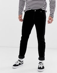 Weekday Sunday Relaxed Tapered Cord Jeans In Black