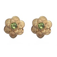 Emma Chapman Jewels Gypsy Rose Peridot Stud Earrings Green