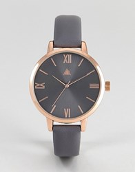 Asos Charcoal And Rose Gold Watch Rose Gold Copper