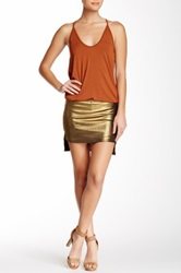 Riller And Fount Ruby Attached Short Slit Side Skirt Brown