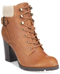 Styleandco. Style Co. Caelie Lace Up Ankle Booties Only At Macy's Women's Shoes Saddle