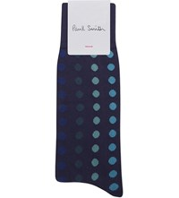 Paul Smith Polka Dot Socks Navy