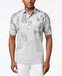 Tommy Bahama Men's Floral Fade Polo Grey Heather