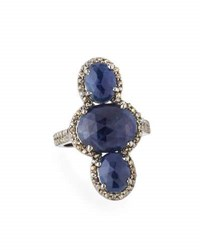 Bavna Sapphire Spinel And Diamond Cocktail Ring