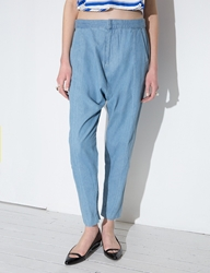 Pixie Market Finders Keepers Chambray Harem Pants