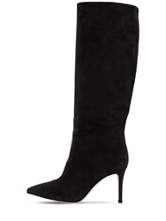 Gianvito Rossi 85Mm Tall Suede Boots Black