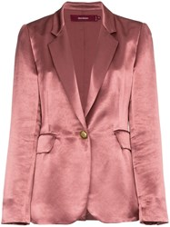 Sies Marjan Kaia Silk Blazer Pink And Purple