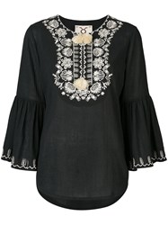 Figue Embroidered Blouse Black