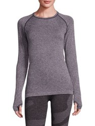 Hpe Holiday Seamless Long Sleeve Tee Grey