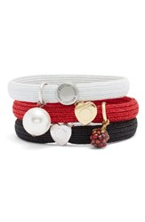 Marc Jacobs By Set Of 3 Charm Ponytail Holders